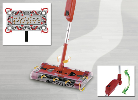 """Swivel Sweeper"" Akku-Besen mit Power-Akku"
