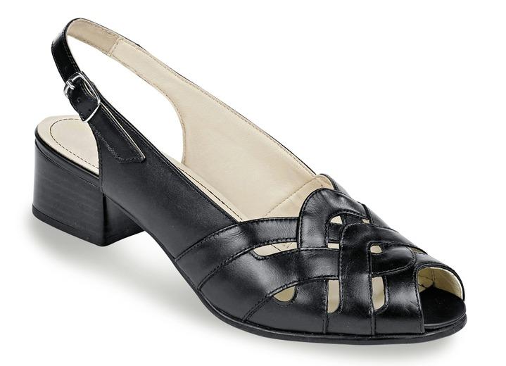 sandalette in 4 farben mit verstellbarem fersenriemchen weite h damesschoenen bader. Black Bedroom Furniture Sets. Home Design Ideas