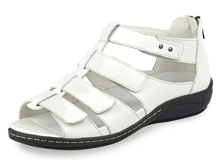 riemchen sandalette in 5 farben mit herausnehmbarem lederfu bett weite h damesschoenen bader. Black Bedroom Furniture Sets. Home Design Ideas
