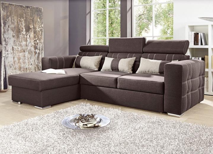 polsterecke mit dekokissen in verschiedenen ausf hrungen gestoffeerde meubels bader. Black Bedroom Furniture Sets. Home Design Ideas