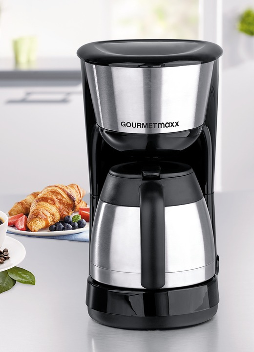 Koffie- & thee - Gourmetmaxx thermo-koffiezetapparaat, in Farbe ZWART