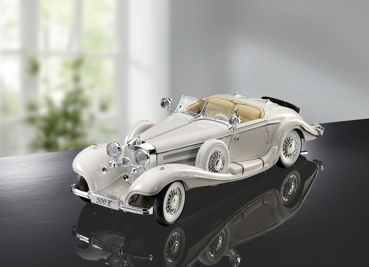 Collectors item - Mercedes 500K, in Farbe WEISS