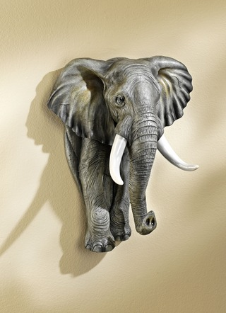 Wanddekoration Elefant