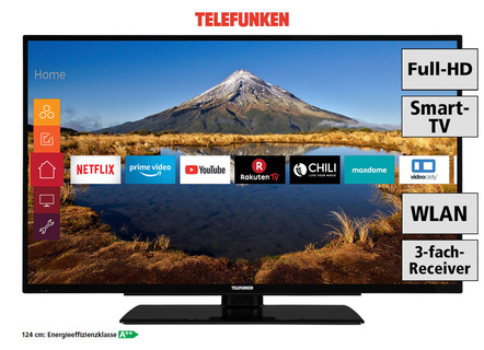Telefunken Full-HD-LED-televisie, in verschillende maten