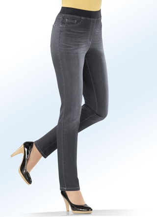 Power-stretch jeans, pull-on-model