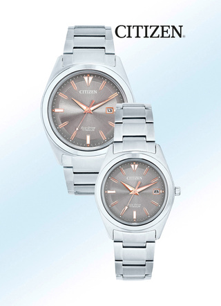 Citizen Solar-partnerhorloges van super titanium