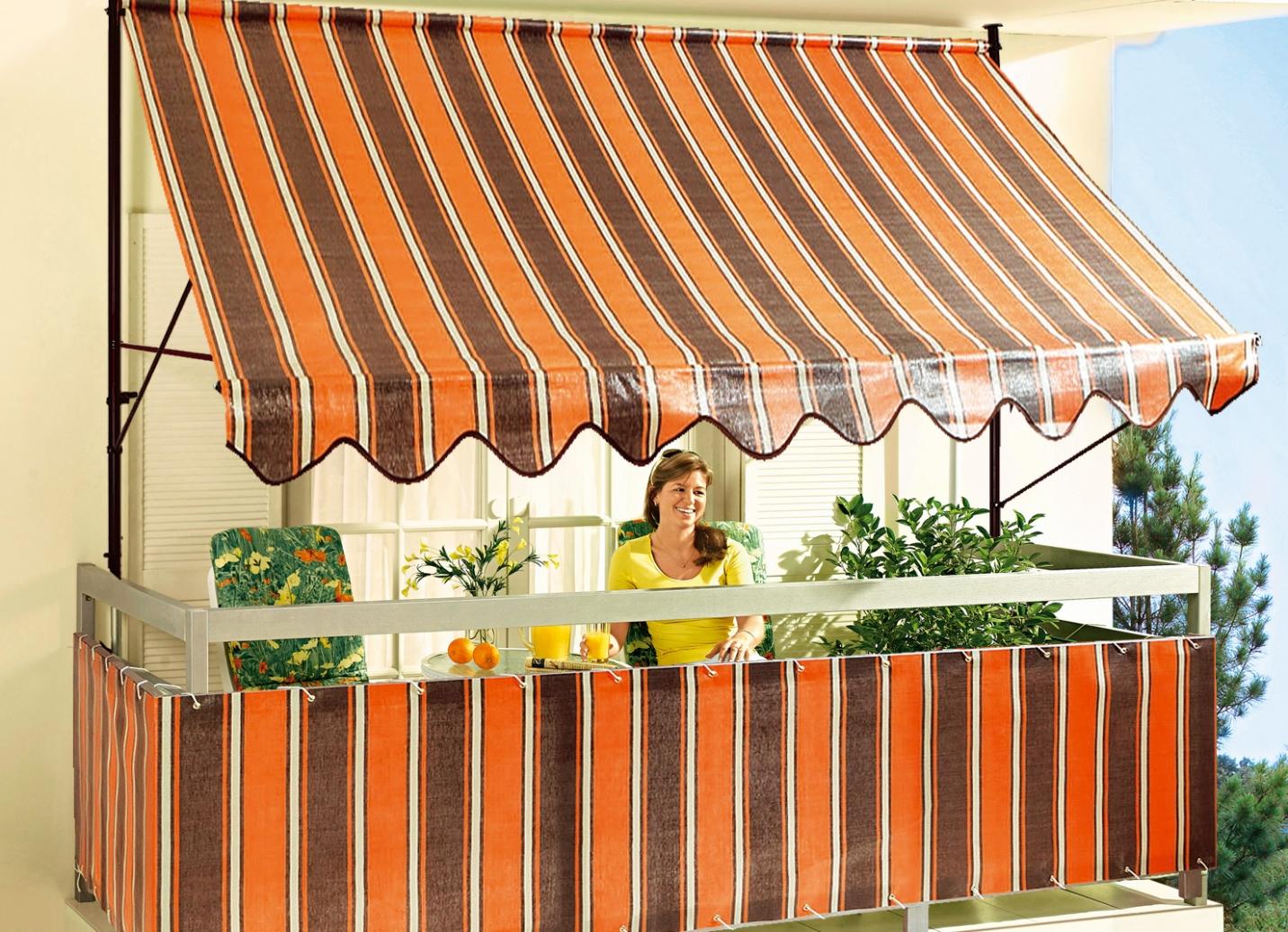 klemmmarkise inkijk en zonwering bader. Black Bedroom Furniture Sets. Home Design Ideas