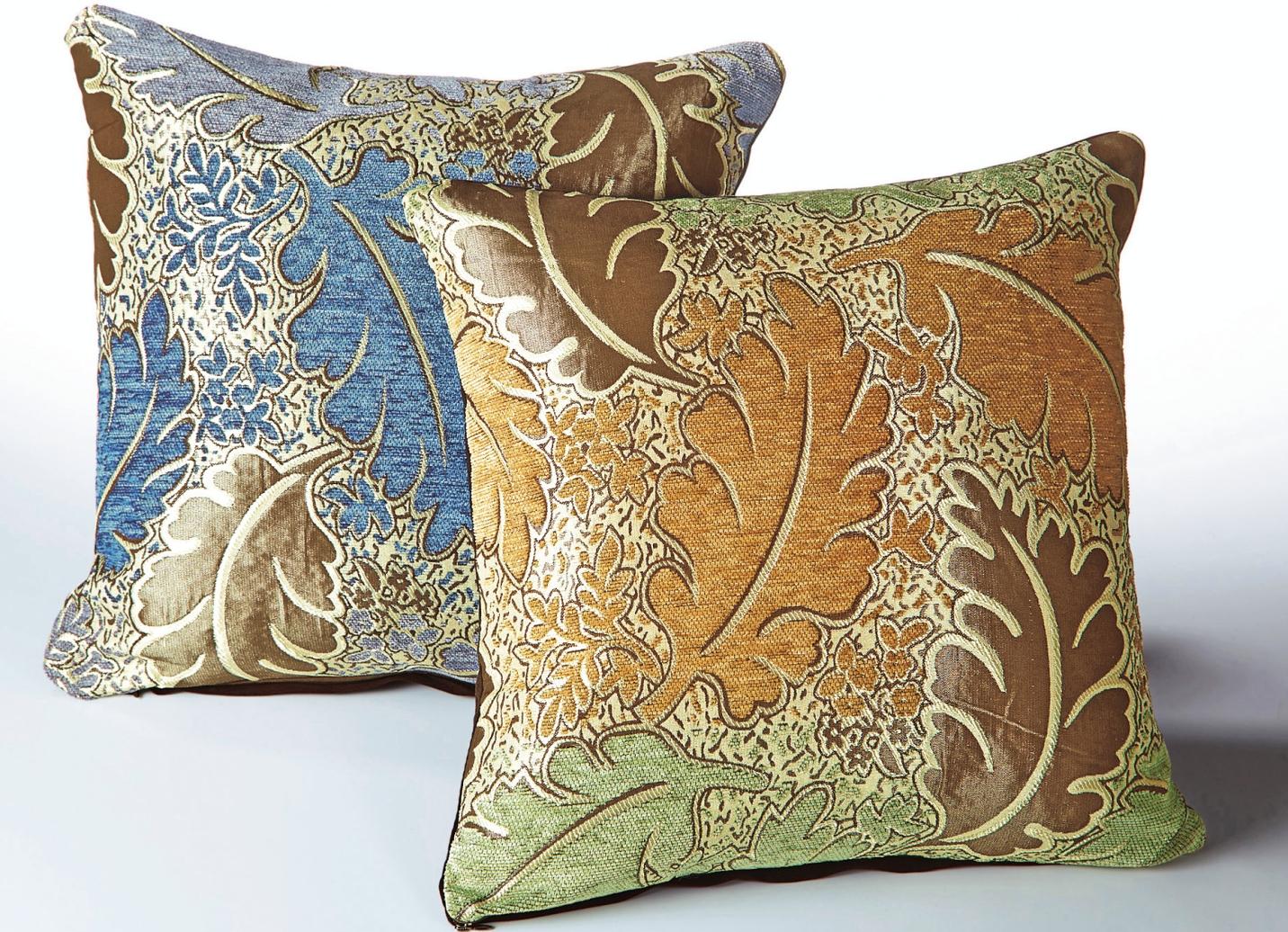 kissenh llen 2er set bl tter in verschiedene farben. Black Bedroom Furniture Sets. Home Design Ideas
